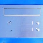 nerez poštovní  schránka se 2 jmenovkami, 2 zvonky a přípravou pro komunik. zařízení